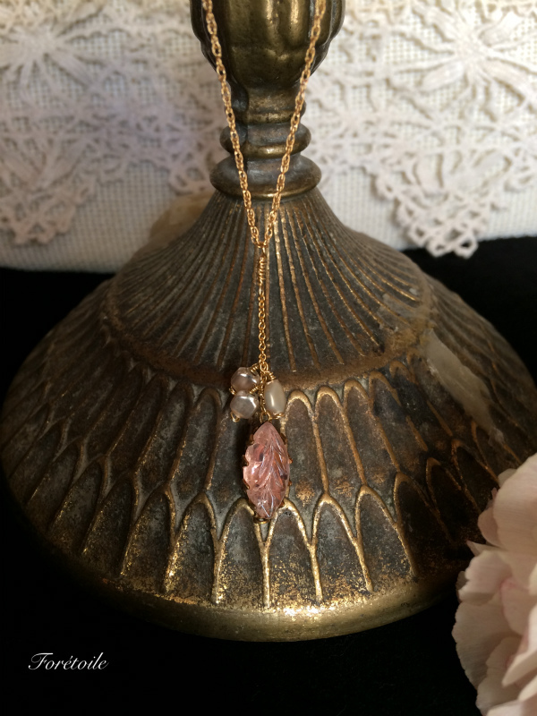 ヴィンテージ 14kgf ネックレス Rosaline champagne ~ロザリン・シャンパーニュ~_f0377243_15415239.jpg