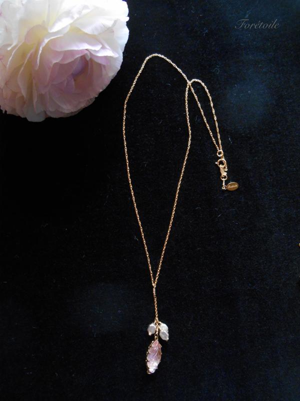 ヴィンテージ 14kgf ネックレス Rosaline champagne ~ロザリン・シャンパーニュ~_f0377243_15461912.jpg