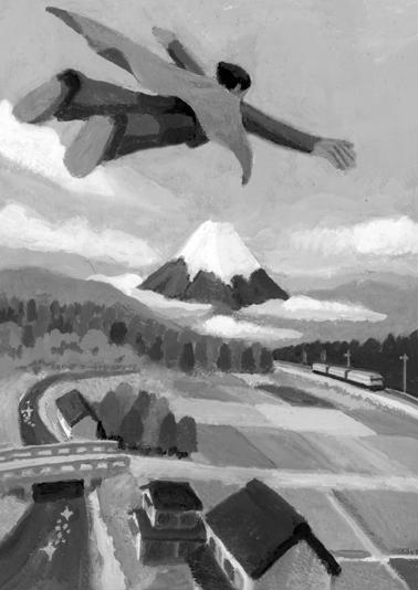 小説すばる 阿刀田高著 連載小説第6回「青へ」小説誌挿絵_b0194880_4552899.jpg