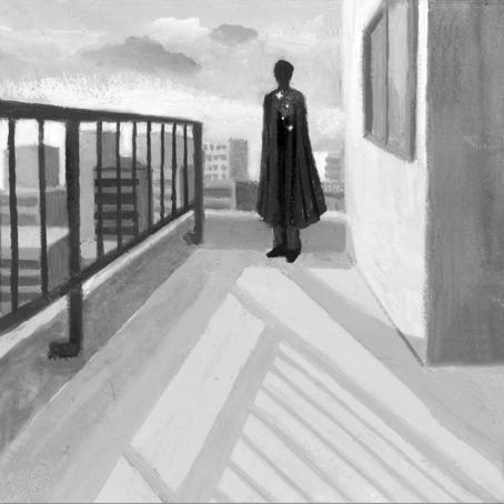 小説すばる 阿刀田高著 連載小説第6回「青へ」小説誌挿絵_b0194880_4564654.jpg