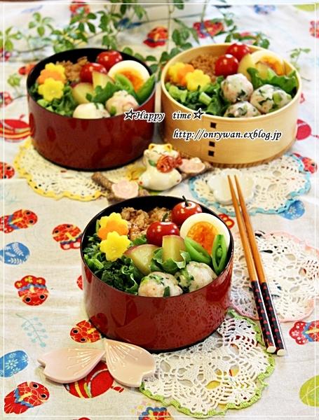 鶏そぼろ弁当と山3つの食パン♪_f0348032_19212582.jpg