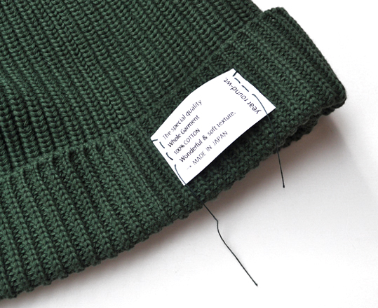 Wholegarment Cotton Knit Cap _d0193211_1731481.jpg