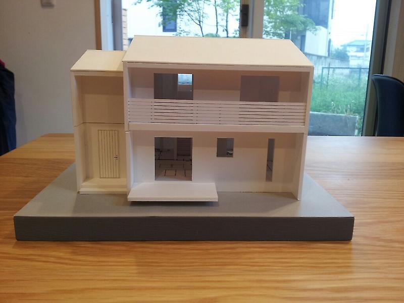 我峰の家 住宅模型_d0354922_12031649.jpg