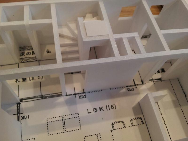 我峰の家 住宅模型_d0354922_12031813.jpg
