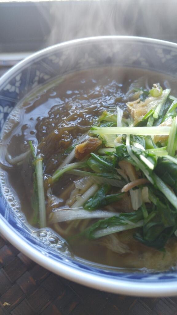 沖縄の「新もずく」で蕎麦_c0124528_11462475.jpg