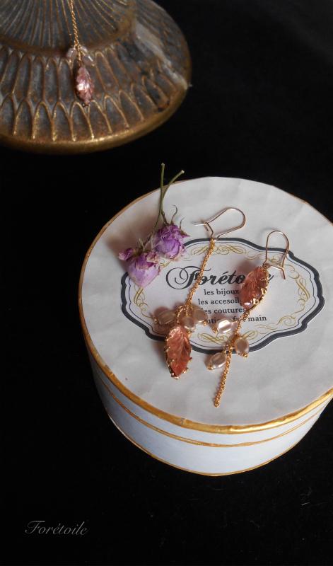 ヴィンテージ 14kgf ネックレス Rosaline champagne ~ロザリン・シャンパーニュ~_f0377243_07445933.jpg