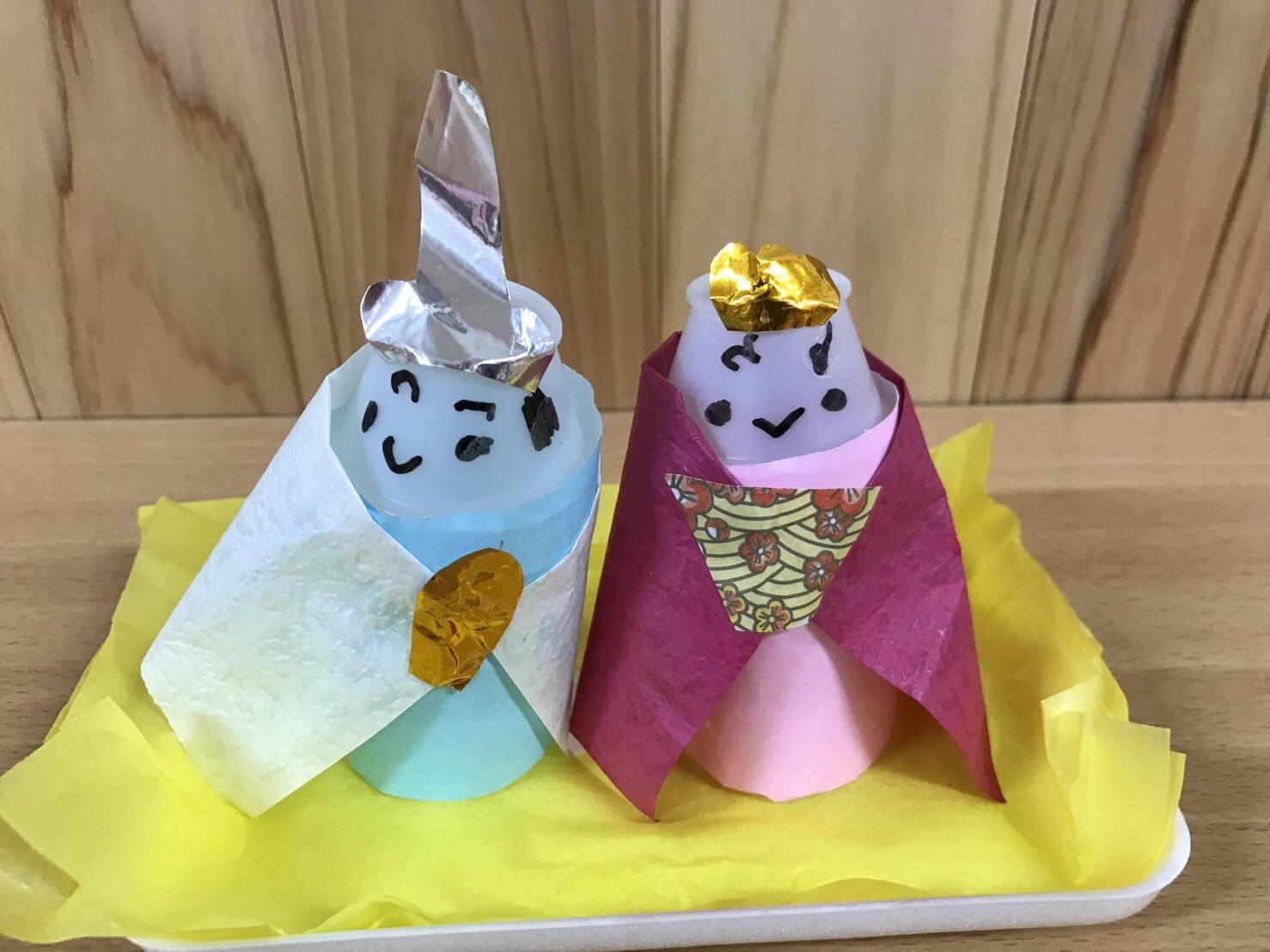 4歳児 らいおん組  ひな人形づくり_c0151262_22243887.jpg