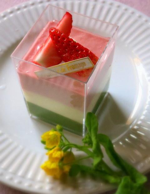 ひなまつり3色ムース*アトリエ・ド・フロマージュの限定ケーキ_f0236260_19484178.jpg
