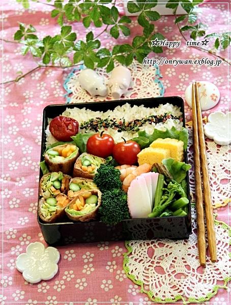 野菜たっぷり肉巻き弁当とおnewの弁当箱と♪_f0348032_18022560.jpg