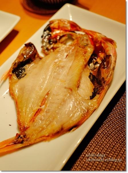 金目鯛の干物定食_f0179404_21165510.jpg