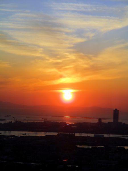 あべのハルカスの夕陽 ~大阪マリオット都ホテル~_d0145934_18063770.jpg