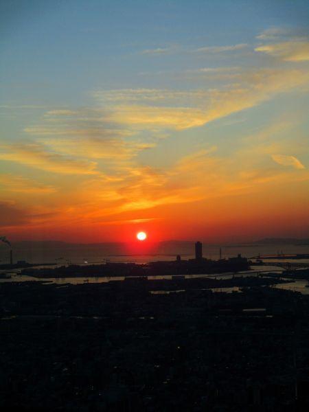 あべのハルカスの夕陽 ~大阪マリオット都ホテル~_d0145934_18073817.jpg