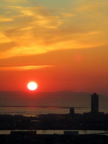 あべのハルカスの夕陽 ~大阪マリオット都ホテル~_d0145934_18083502.jpg