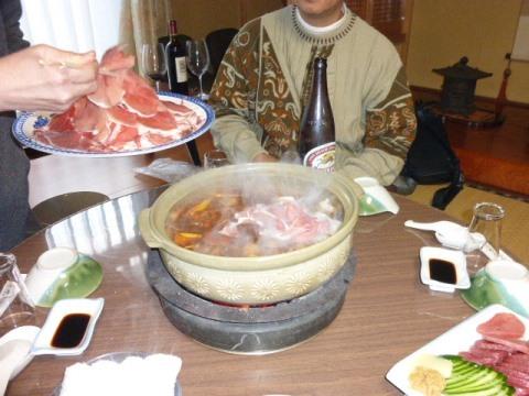 上石津・加登屋旅館で「ぼたん鍋」懇親会_f0197754_23571252.jpg