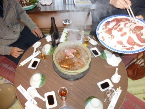 上石津・加登屋旅館で「ぼたん鍋」懇親会_f0197754_23571551.jpg