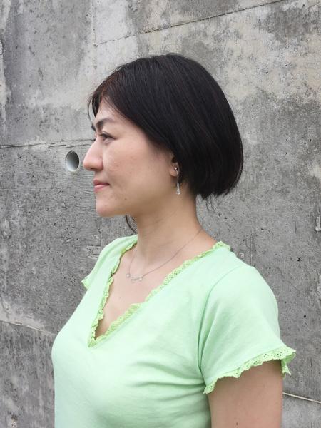 月下美人 Vネックカットソー 黄緑 (1335)_e0104046_6454641.jpg