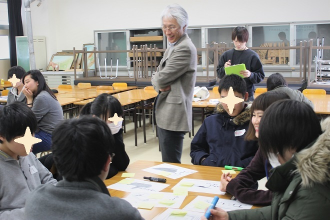 県立新潟翠江高校においてワークショップ「便利の裏側」を行ないました_c0167632_14403134.jpg
