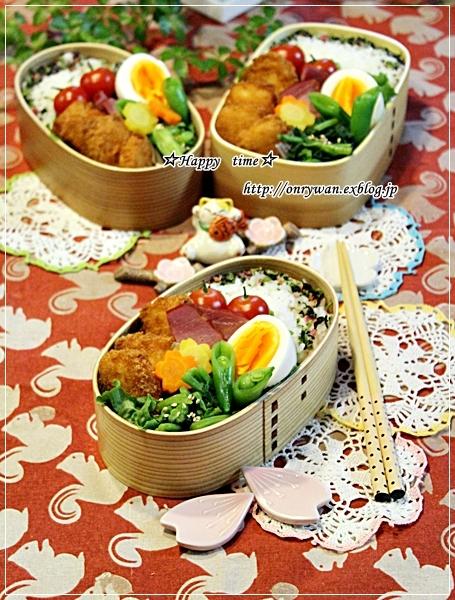 白身魚フライ弁当と今夜は牛肉菜花ソテー♪_f0348032_18175926.jpg