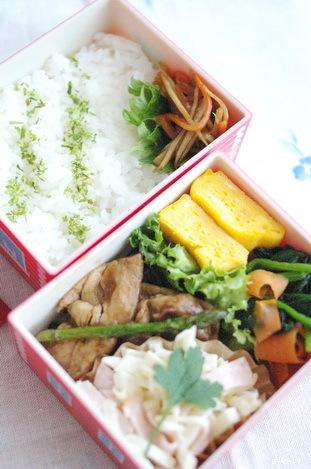 今日の豚アスパラ炒め弁当とお弁当作りのコツ_d0327373_12394847.jpg