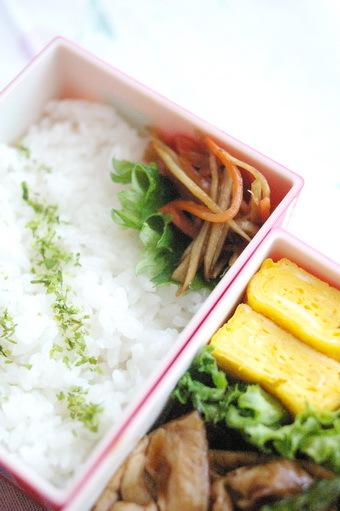 今日の豚アスパラ炒め弁当とお弁当作りのコツ_d0327373_12453084.jpg