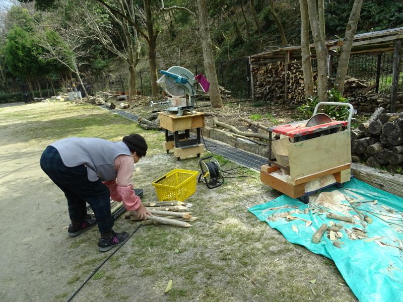 伐採木の片付けと手すり取り付け・・・うみべの森_c0108460_20311105.jpg