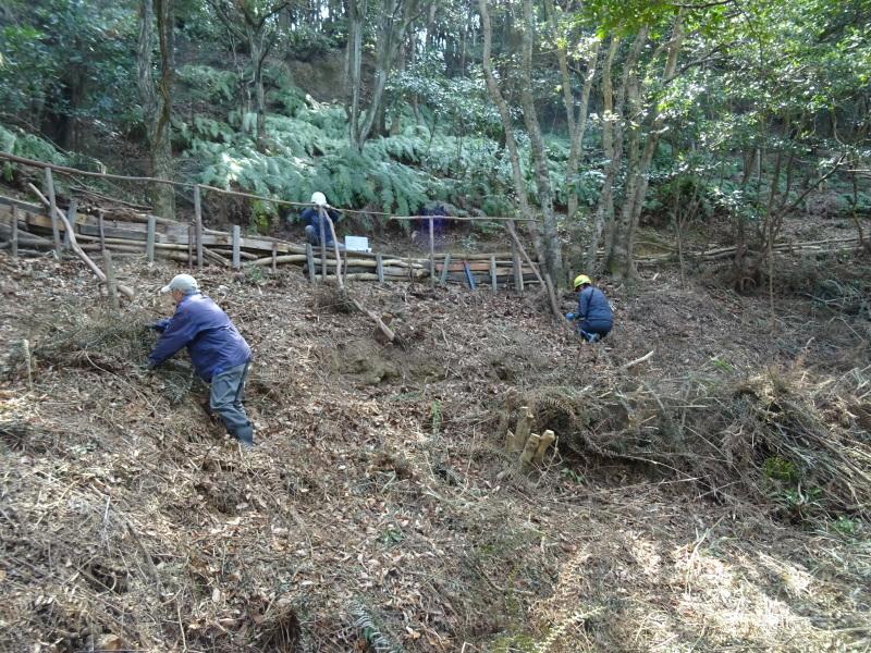 伐採木の片付けと手すり取り付け・・・うみべの森_c0108460_20313829.jpg