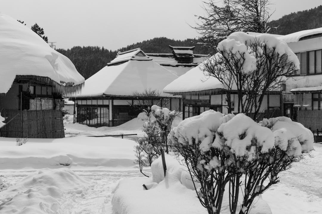 雪の大内宿の茶色のつらら_a0158797_23050542.jpg