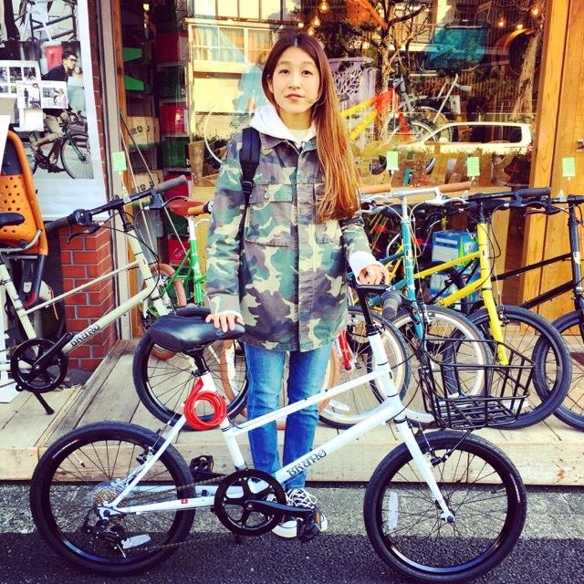 ☆今日のバイシクルガール☆ 自転車女子 おしゃれ自転車 自転車ガール 自転車女子 ミニベロ クロスバイク ライトウェイ ラレー ブルーノ フジ_b0212032_17122562.jpg