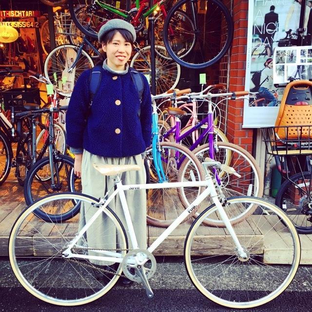 ☆今日のバイシクルガール☆ 自転車女子 おしゃれ自転車 自転車ガール 自転車女子 ミニベロ クロスバイク ライトウェイ ラレー ブルーノ フジ_b0212032_17131891.jpg