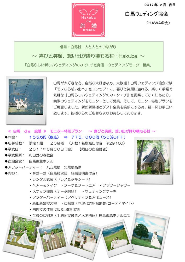 白馬ウェディング モニタ-募集_b0106578_20492514.jpg