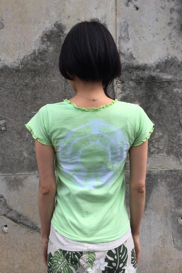 月下美人 Vネックカットソー 黄緑 (1335)_e0104046_4242141.jpg