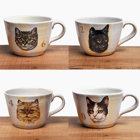 比留間郁美さんより、猫のカップとプレートが届いております。_d0193211_1355814.jpg