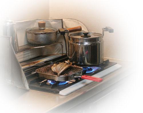 魚を焼いたら猫集合_d0355333_16400943.jpg