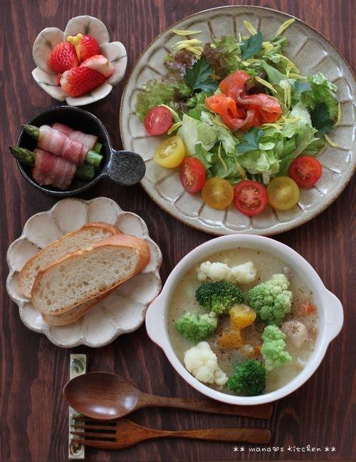 月曜鮭弁 ✿ クリームシチュー(๑¯﹃¯๑)♪_c0139375_1134651.jpg