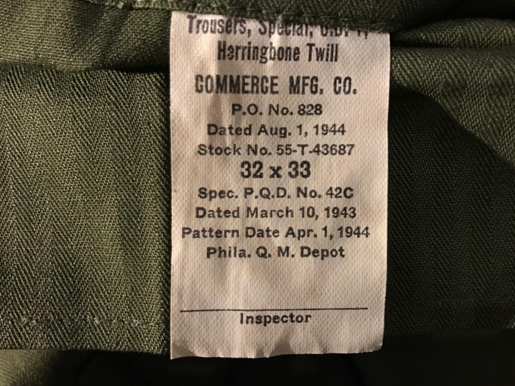神戸店3/15(水)春物ヴィンテージ入荷!#3 US.Army Metal Button Chino Pants,41Khaki GasFlap,M43HBT Pants!_c0078587_02175393.jpg
