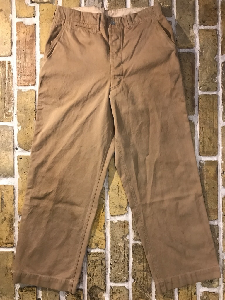 神戸店3/15(水)春物ヴィンテージ入荷!#3 US.Army Metal Button Chino Pants,41Khaki GasFlap,M43HBT Pants!_c0078587_02372703.jpg