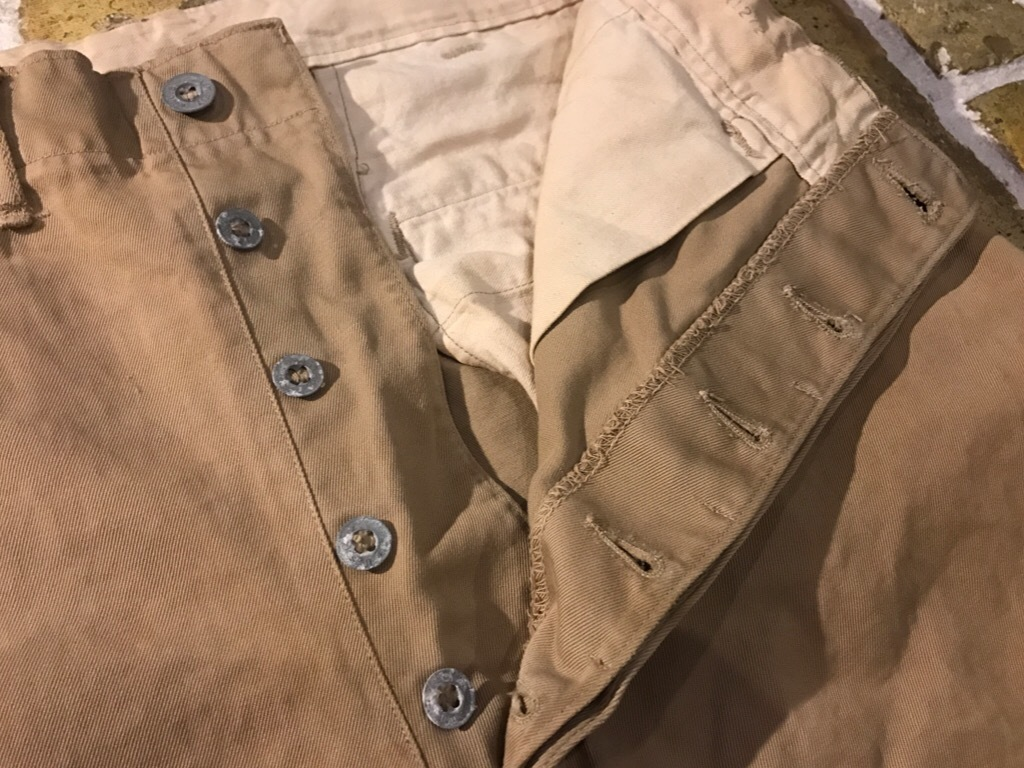 神戸店3/15(水)春物ヴィンテージ入荷!#3 US.Army Metal Button Chino Pants,41Khaki GasFlap,M43HBT Pants!_c0078587_02393263.jpg