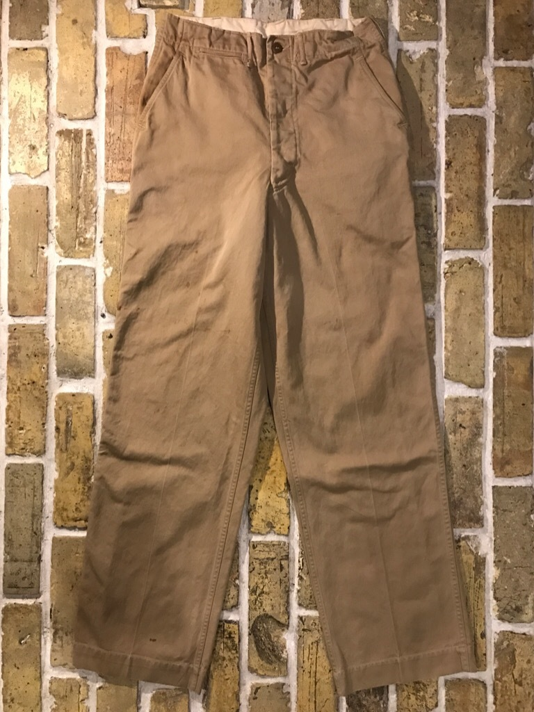 神戸店3/15(水)春物ヴィンテージ入荷!#3 US.Army Metal Button Chino Pants,41Khaki GasFlap,M43HBT Pants!_c0078587_02411575.jpg