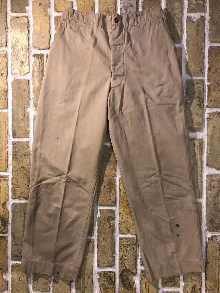 神戸店3/15(水)春物ヴィンテージ入荷!#3 US.Army Metal Button Chino Pants,41Khaki GasFlap,M43HBT Pants!_c0078587_02541088.jpg