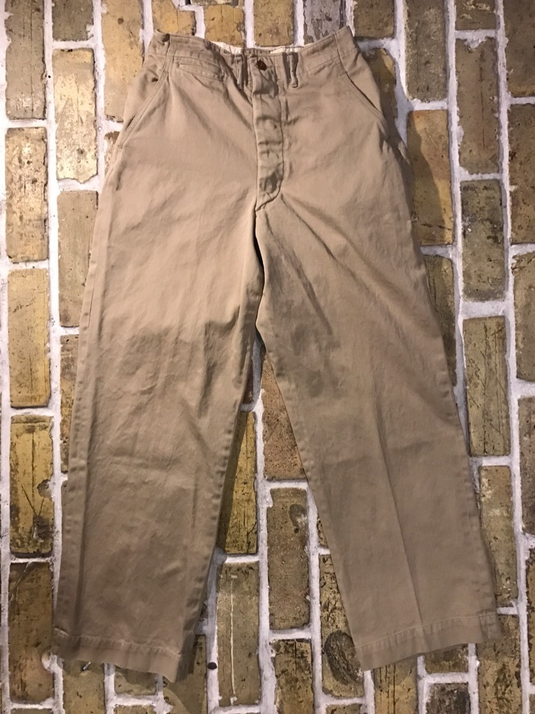 神戸店3/15(水)春物ヴィンテージ入荷!#3 US.Army Metal Button Chino Pants,41Khaki GasFlap,M43HBT Pants!_c0078587_02563739.jpg