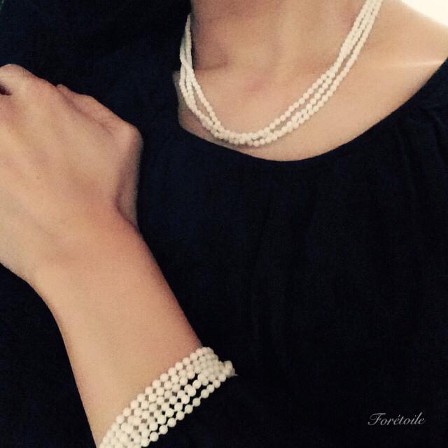 Dentelle blanche~白サンゴのブレスレット~_f0377243_07203845.jpg