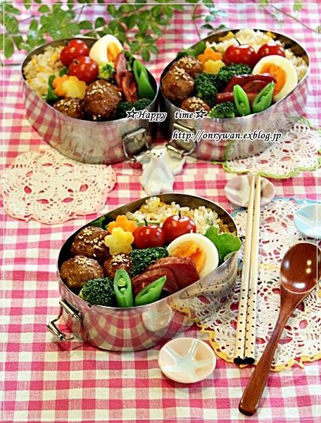 炒飯・肉団子弁当と今夜のおうちごはん♪_f0348032_18330251.jpg