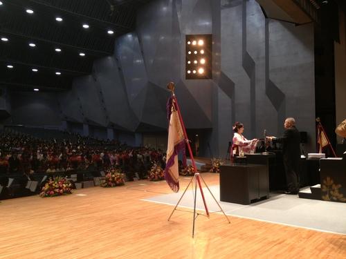 『郡山女子大学・短期大学部 卒業式』_f0259324_1856134.jpg