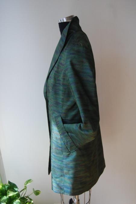 着物リメイク・へチマ襟のロングジャケット_d0127925_01075114.jpg