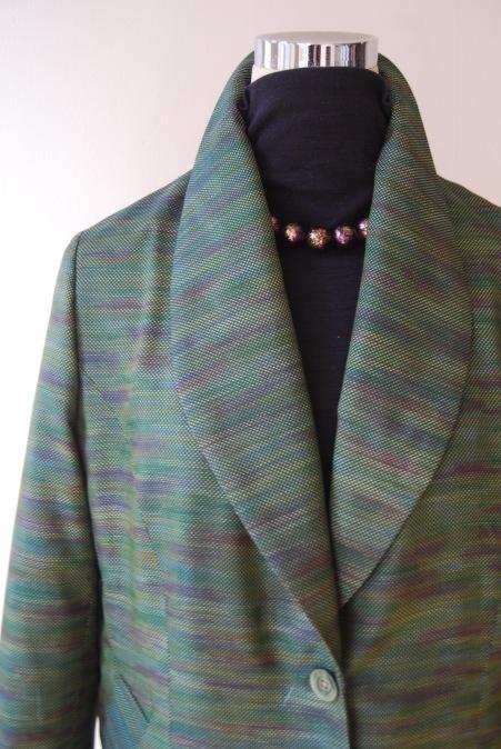 着物リメイク・へチマ襟のロングジャケット_d0127925_01080926.jpg
