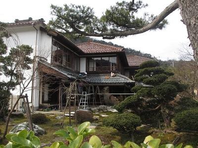 「芭蕉の館」屋根の水まわり修復工事。_f0289632_1223404.jpg