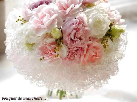 幸せ春色☆ひらひら優しいナチュラルステムのカフスブーケ♪_c0098807_22013897.jpg