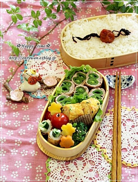 スナップエンドウの肉巻き弁当と常備菜作り♪_f0348032_18332565.jpg