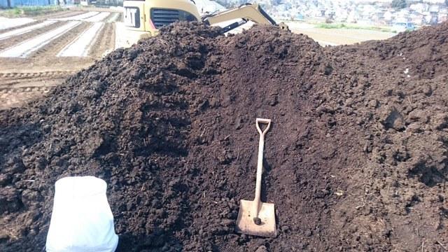 今日から1年半寝かした堆肥を畑に運び込みます 総勢5人_c0222448_15095802.jpg