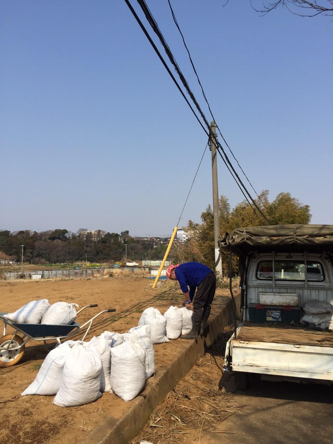 今日から1年半寝かした堆肥を畑に運び込みます 総勢5人_c0222448_15104312.jpg